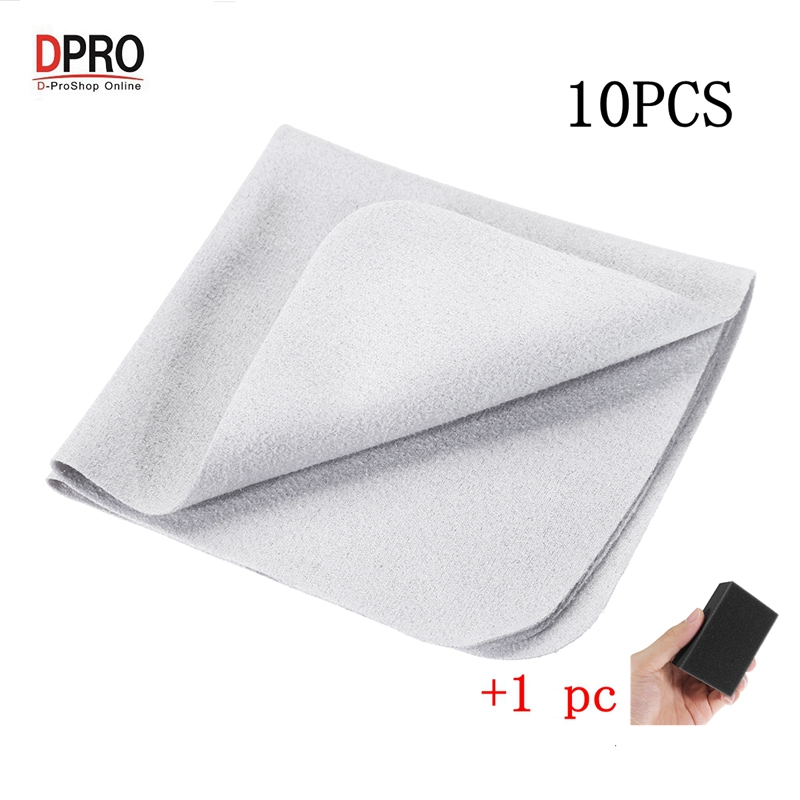 DPRO 10pcs 14*14cm Big Size Car Paint Care Cloth Liquid Glass Coating Special Flannel For Plating Crystal Coating