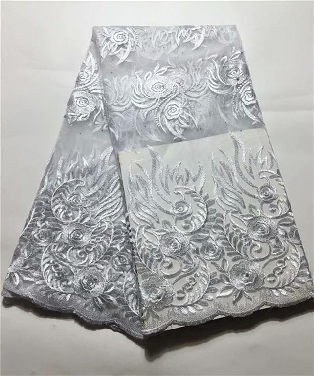 Tessuto in pizzo africano con motivo floreale in 3D oro tessuto in pizzo nigeriano francese per abito da sposa con filo K9 lunghezza 0,9 m