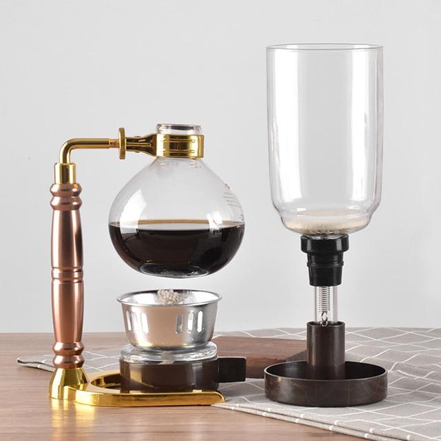 Japanese Style Siphon coffee maker Tea Siphon pot vacuum coffeemaker glass type coffee machine filter kahve makinas 3cup 4