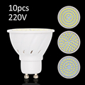E27 Lampada De LED Spotlight MR16 220V SMD 2835 Lamparas LED Lamp GU10 For Home Indoor Lighting Ampoule LED Bulbs 10Pcs/Pack
