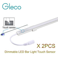 2pcs Lot DC12V LED Bar Light Touch Sensor Dimmable 0 5m 36LEDs Hard Rigid LED Strip