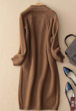 thick knit long cardigan sweater coat