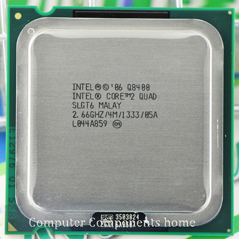 intel core 2 quad Q8400 CPU Processor 2 66Ghz 4M 1333GHz Socket 775 Desktop CPU free