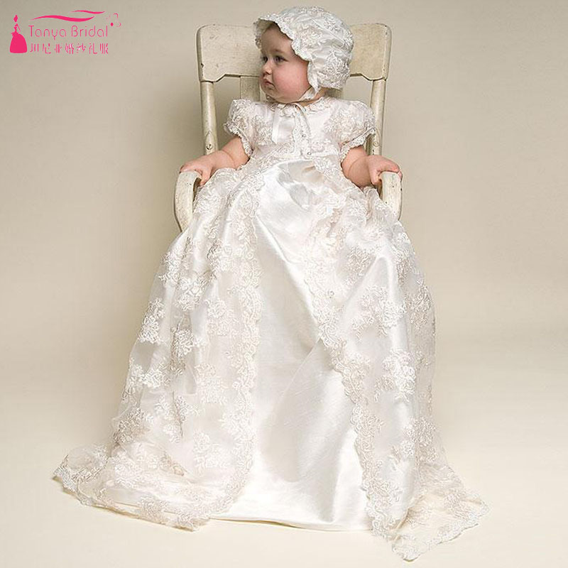 Flower     Girls     Dresses   First Communion   Dresses   for little Baby less than 24 Month with Lace jacket Elagnt ZF073