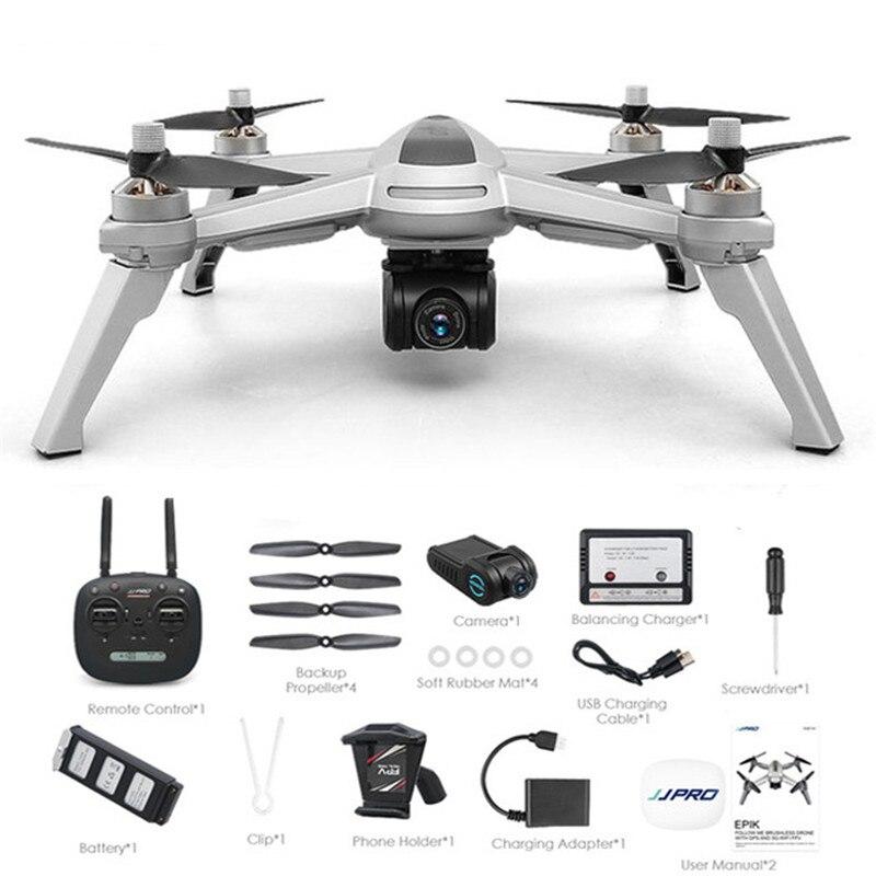 JJPRO X5 5g GPS WIFI FPV RC Drone Caméra 1080 p Max 18 Minutes Suivez-moi Maintien D'altitude Quadcopter RTF
