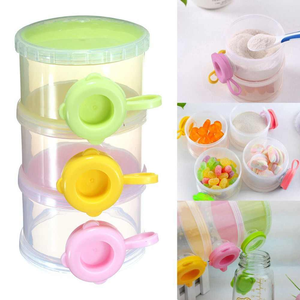 New 3 Tier Layer Baby Infant Milk Powder Dispenser Container Portable Storage Travel