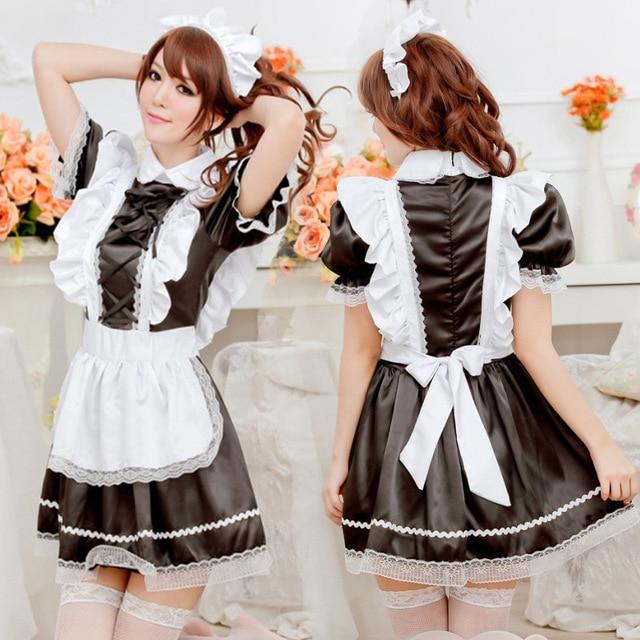 Sexy French Maid Costume Sweet Gothic Lolita Dress Anime Cosplay Sissy Maid  Uniform Plus Size Halloween - Aliexpress.com : Buy Sexy French Maid Costume Sweet Gothic Lolita