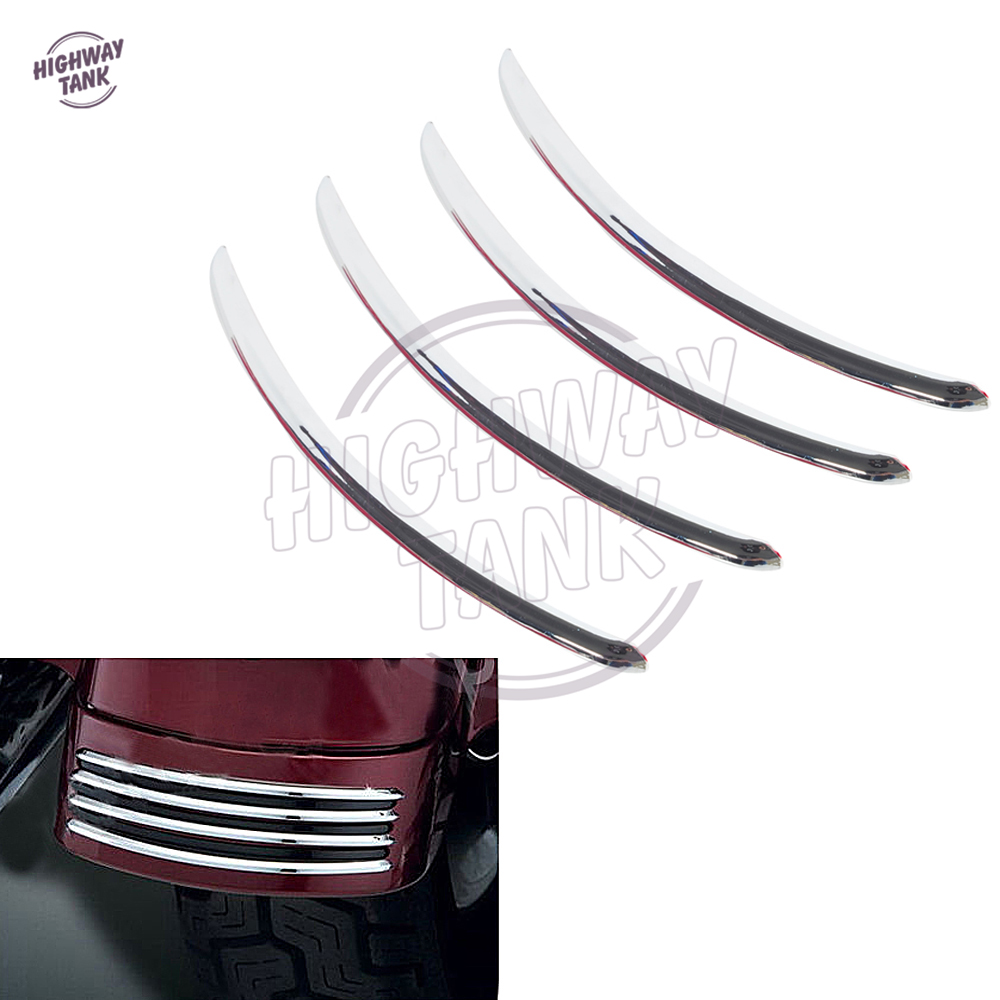 Chrome Motorcycle Rear Fender Frame Decoration strip case for Harley Davidson Road Street Glide FLHX FLTRX 2006-2013 chrome custom motorcycle skeleton mirrors for harley davidson softail heritage classic