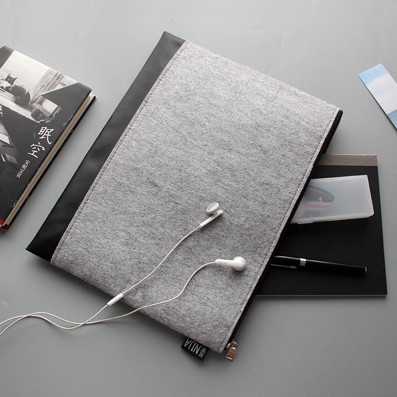 A4 multifunctional envelope potable data bag office stationary brief case zip folder bag penicl bag file folder bag only