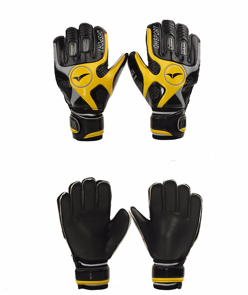 2017 Men Soccer Goalkeeper Gloves Wearable Slip Resistant Football Keeper Latex Goalie Gloves Professional Double Protection 5