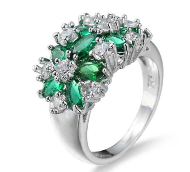 De luxe cyan pierre anneau de mariage anneau haute air style déesse doit avoir