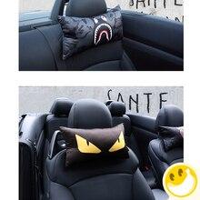 2 pcs Bonito Dos Desenhos Animados Do Assento de Carro Resto Pescoço Encosto de cabeça Auto cintura Almofada de Apoio Da Cintura Almofada Lombar Auto Assento Encosto de Cabeça travesseiros