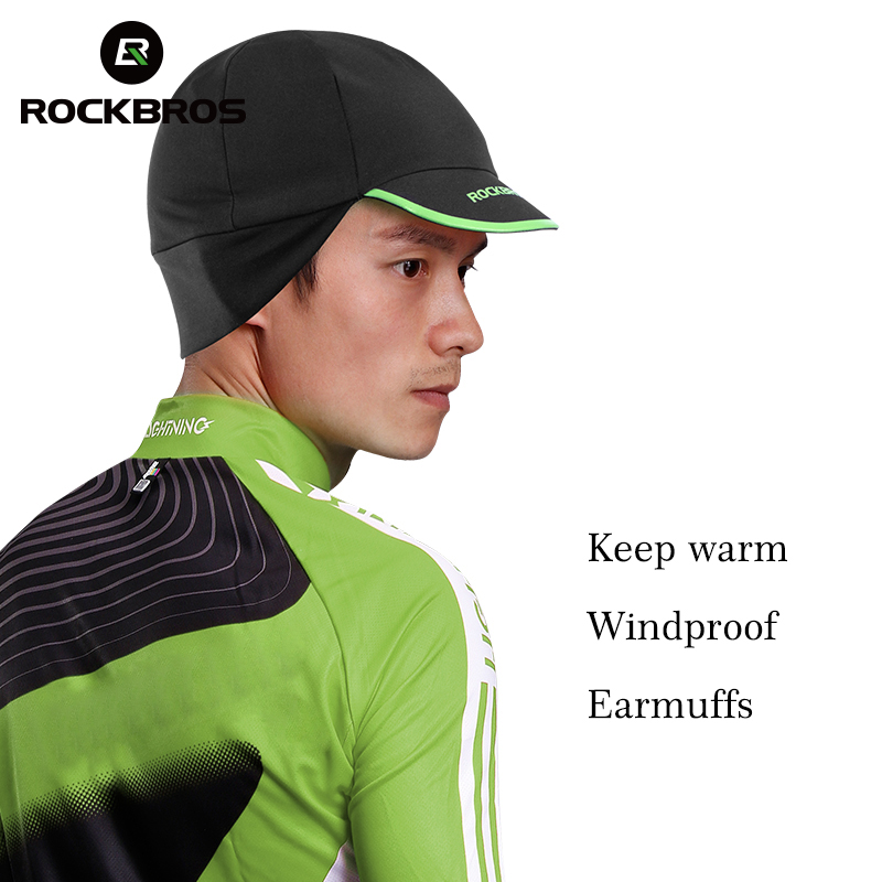 ROCKBROS Cycling Bike Bicycle Wear Caps Men's Winter Thermal Fleece Warm Outdoor Sports Hat Fishing Running Skiing Earmuffs Caps outdoor sports winter thermal fleece warm ski hat earmuffs cycling cap windproof hiking riding snow cap men women knitted hat