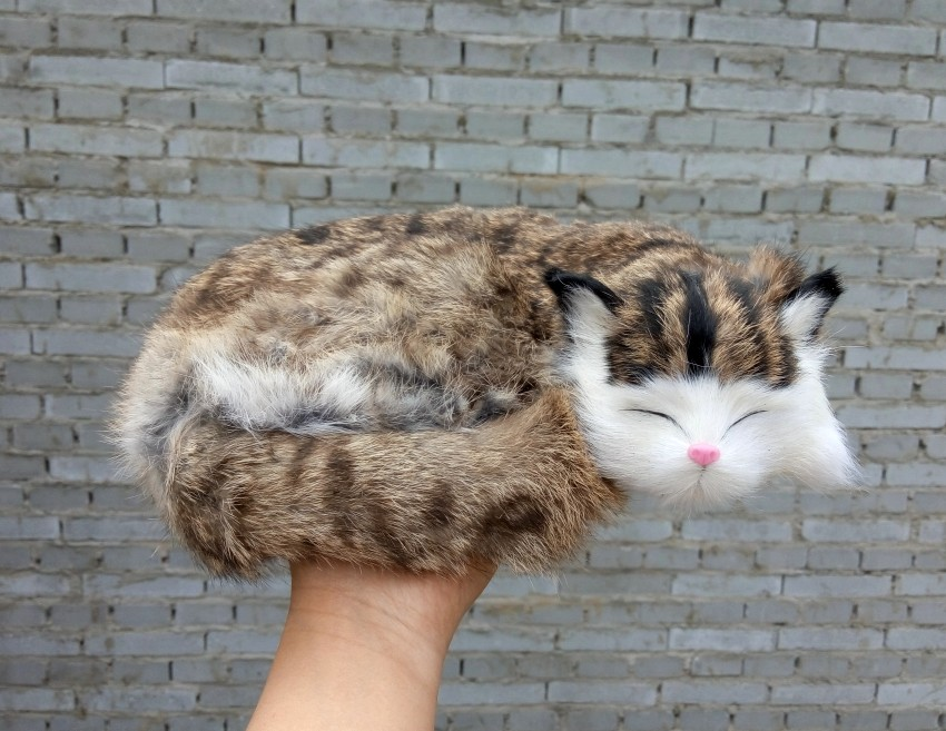 simulation cute sleeping cat 27x21cm model polyethylene&furs cat model home decoration props ,model gift d414 large 21x27 cm simulation sleeping cat model toy lifelike prone cat model home decoration gift t173