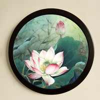 Round Wooden Picture Frames Creative Gift DIY Wall Hanging Wood Picture Holder Wall Mounted Photo Frame Round Home Decor