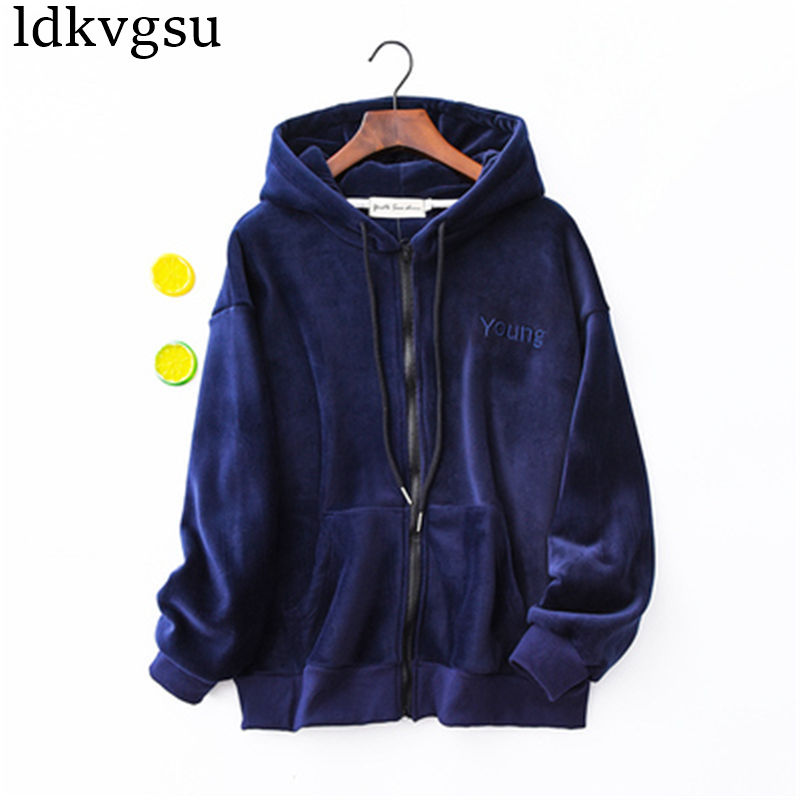 2020 Harajuku Letter Sweatshirt Women Feminino Thin Hooded Hoodies Coats Girls Spring Autumn Jackets Female Streetwear V79