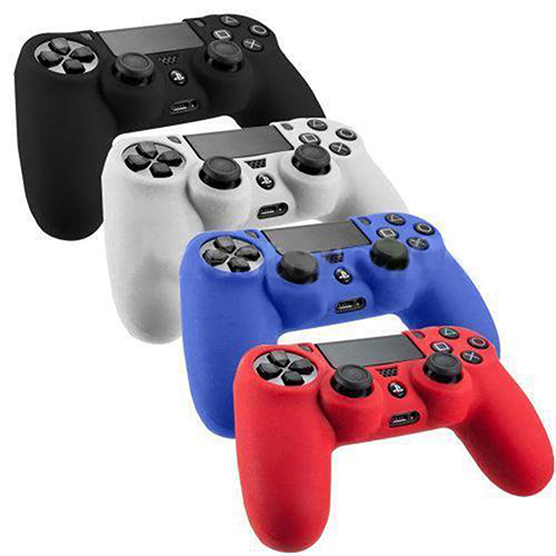Silicone Skin Case Anti-Dust Protective Cover For Playstation 4 PS4 Controller
