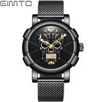 GIMTO 2018 Luxury Skull Men Watch Top Brand Creative Quartz Male Fashion Casual Wrist Watches Sport Clock Relogio Masculino