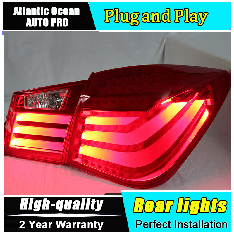 A&T Car Styling for Chevrolet Cruze Taillights BMW Design 2012 Cruze LED Tail Lamp Rear Lamp DRL+Brake+Park+Signal led lights цена в Москве и Питере
