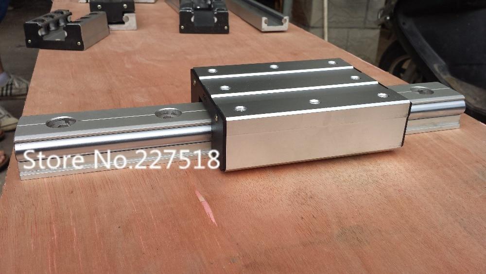 Высокая скорость линейный направляющий выступ направляющий выступ ролика внешний двойной оси линейного руководства LGD12 длиной 1000 мм с блока LGD12 100мм длина