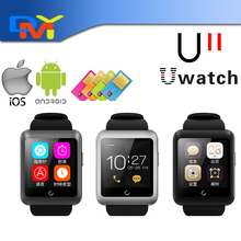 Original Uwatch U11 Smartwatch + Sim Slot Smart Bluetooth Uhr Für iPhone Für Samsung Sony Alle Android Phone Reloj Inteligente
