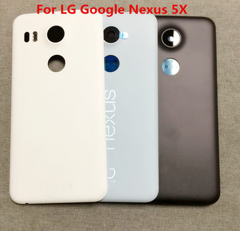 For LG Google Nexus 5X Original Back Battery Cover Housing Rear Door Cases For LG Nexus 5X With Camera Glass LenFor LG Nexus 5 x image