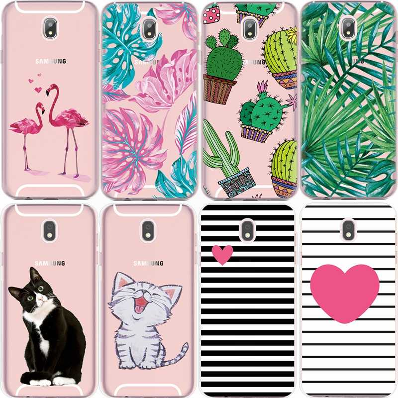GerTong Flower Plant Pattern Phone Cases For Samsung Galaxy S7 Edge S8 Plus S9 S10 E A8 Plus 2018 Case Soft Silicone Back Coque