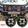 2x 7 Inch Round Led Driving Light 60W 4750LM Front Bumper Grille Guards Spotlights For Off