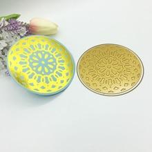 Circle Round Flower Glimmer Hot Foil Plate Metal Cutting Dies Scrapbooking Stencils Photo Album Die Cut Stamping
