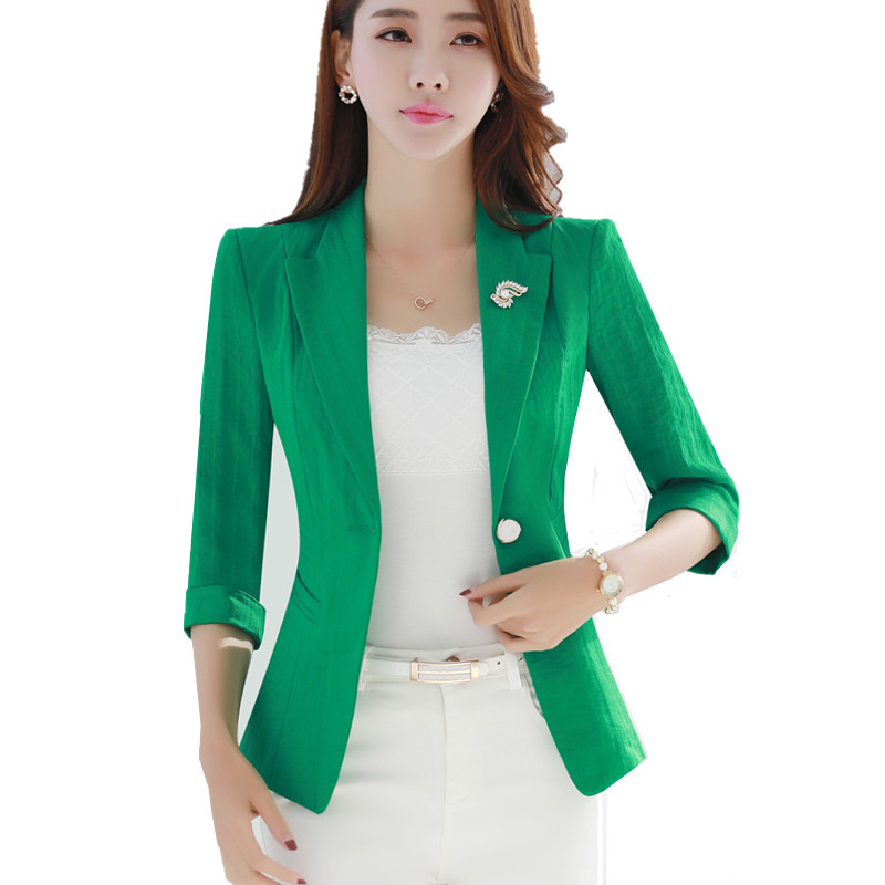 ladies green blazer