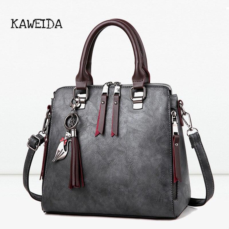 где купить KAWEIDA Designer Fashion Handbag for women Premium PU Leather Tote handle bag Cross body Shoulder Bags Medium Handmade Purse дешево
