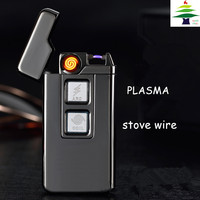 USB Arc Lighters Charging Windproof plasma stove wire Creative Tobacco Weed Smoking Cigarette Lighter