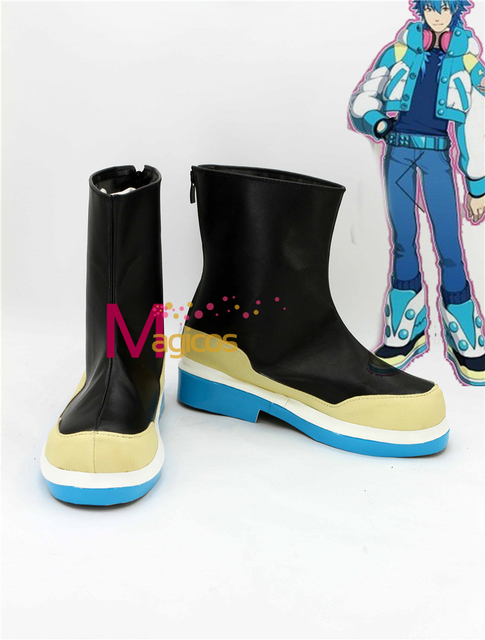 Dramatical Murder DMMD Seragaki Aoba Cosplay Shoes Boots Custom Made