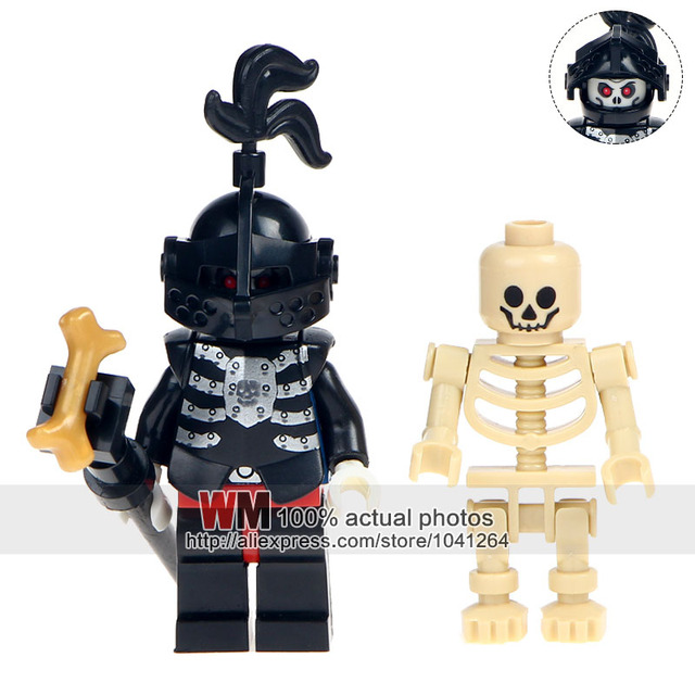 Single Sale Ax9815h Skeleton Medieval Knights Castle Knights