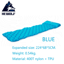 HEWOLF Ultralight Inflatable Cushion Outdoor Air Mattress Bed Moistureproof Camping Mat TPU Sleeping Pad Beach Mat With Pillow