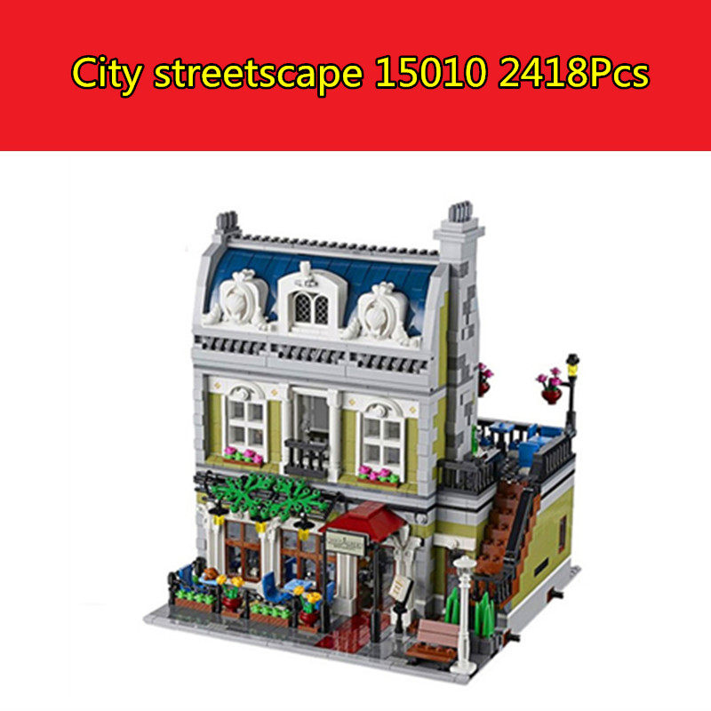 New Lepin 15010 Expert City Street Parisian Restaurant Model Building Kits Blocks Children Toys Compatible legoed With 10243 платье sly sly sl005egttg38
