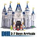 DHL Envío Libre para Niños Juguetes Disney Land El Castillo de Dibujos Animados Modelo Kits de Construcción Anime Kawaii Niño Rompecabezas Educativos 16008