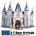 DHL Free Shipping Kids Toys Disney Land The Castle Cartoon Model Building Kits Kawaii Anime Child Educational Puzzles 16008