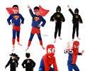 El Envío Gratuito! niños Disfraces Para Niños Zentai Superhéroe Batman Spiderman Superman Ropa de Cosplay Para Niños