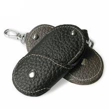 Винтажный кошелек для ключей ручной работы из натуральной коровьей