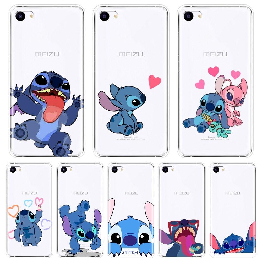 Back Cover For Meizu 16th 16x 15 Lite 16 Plus Cute Kawaii Stitch Silicone Soft Case For Meizu U10 U20 Pro 6 7 Plus Phone Case