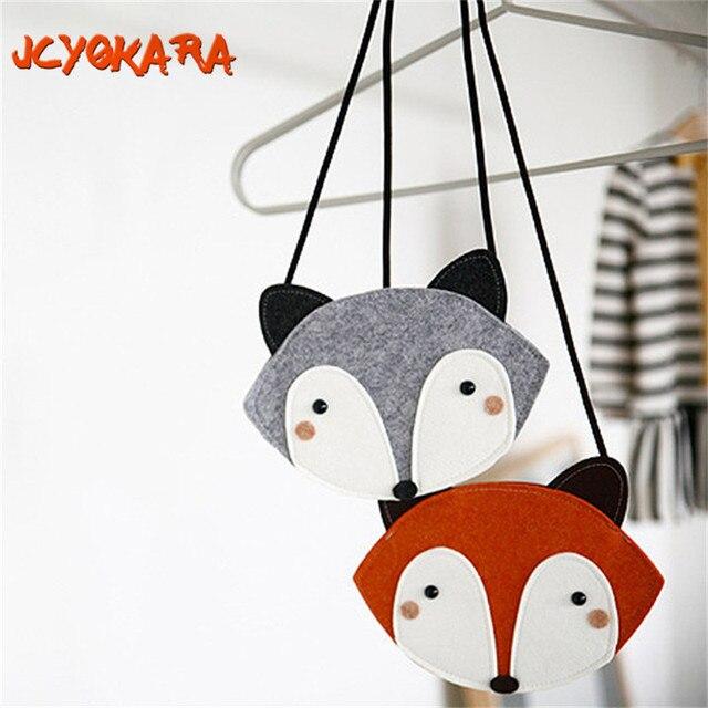 Jcyokara Jc Kids Baby S Fox Coin Purse Children Messenger Bag Handmade Small For