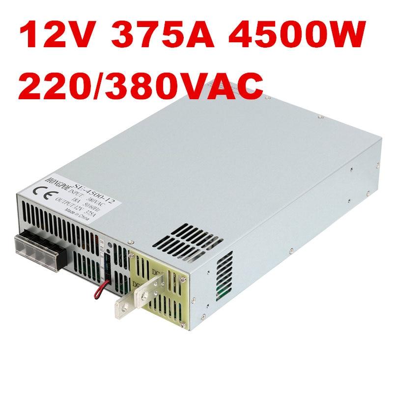 4500W 12V  power supply 12V 375A AC-DC High-Power PSU 0-5V analog signal control SE-4500-12  380VAC DC12V4500W 12V  power supply 12V 375A AC-DC High-Power PSU 0-5V analog signal control SE-4500-12  380VAC DC12V
