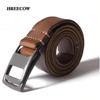 Luxury High Quality Designer Belts Black Coffee Genuine Leather Double Loop Buckle Belts For Men First