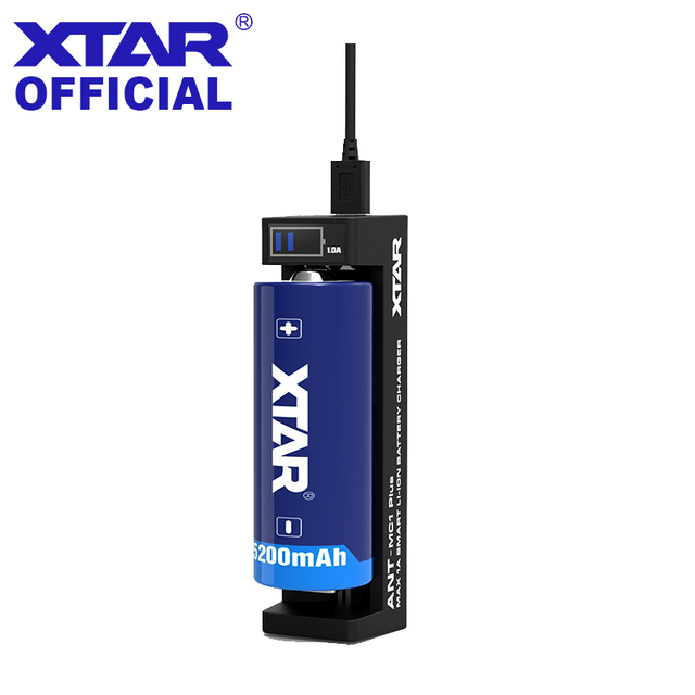 XTAR şarj cihazı karınca MC1 artı küçük ekran USB şarj aleti için 3.6V 3.7V Li ion piller 10440 14500 16340 18700 26650 18650 şarj cihazı