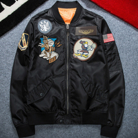 U S Air Force Fly Flight Jacket Embroidery Spring Autumn Retro Classic Men S Jacket