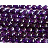 Wholesale Natural AA Grade Amethyst Purple Crystal Faceted Round Loose Stone Beads 3 18mm Fit Beads