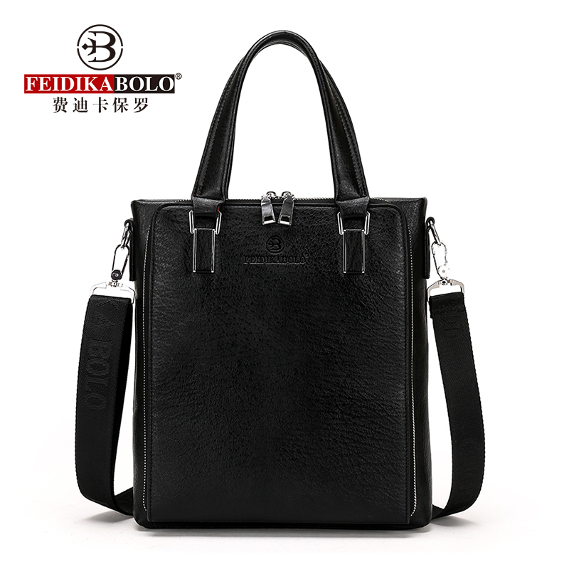 FEIDIKABOLO Classic Personality Men's Tote Bag New Fashion High Quality Business Computer Bag Casual Shoulder Messenger Bag