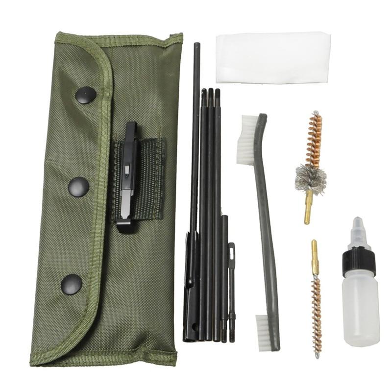 Airsoft Tactical Rifle Escopeta Kit De Limpieza Apto Para. cal 5.56mm Rifle w/Du