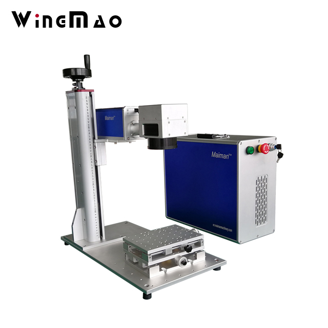 Mini 20W fiber electronic laser marking machine for printed circuit board, chip,mobile phone shell